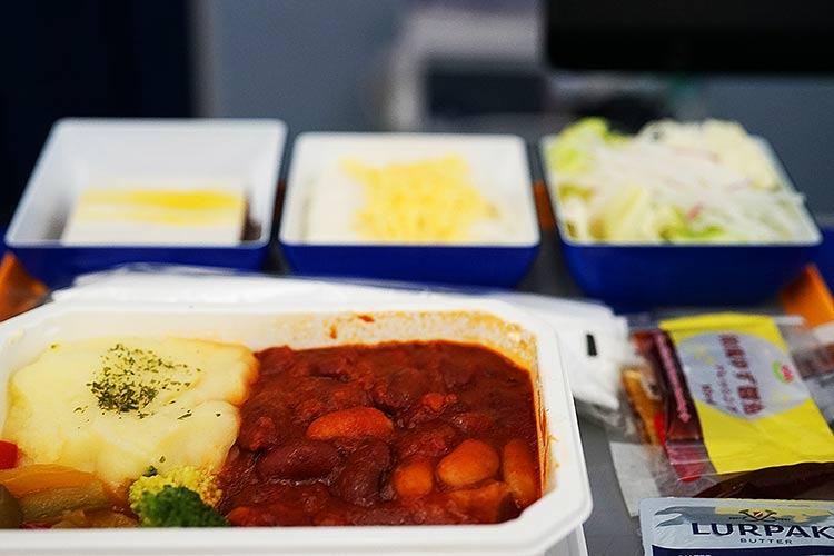 ANA プレミアムエコノミー 機内食