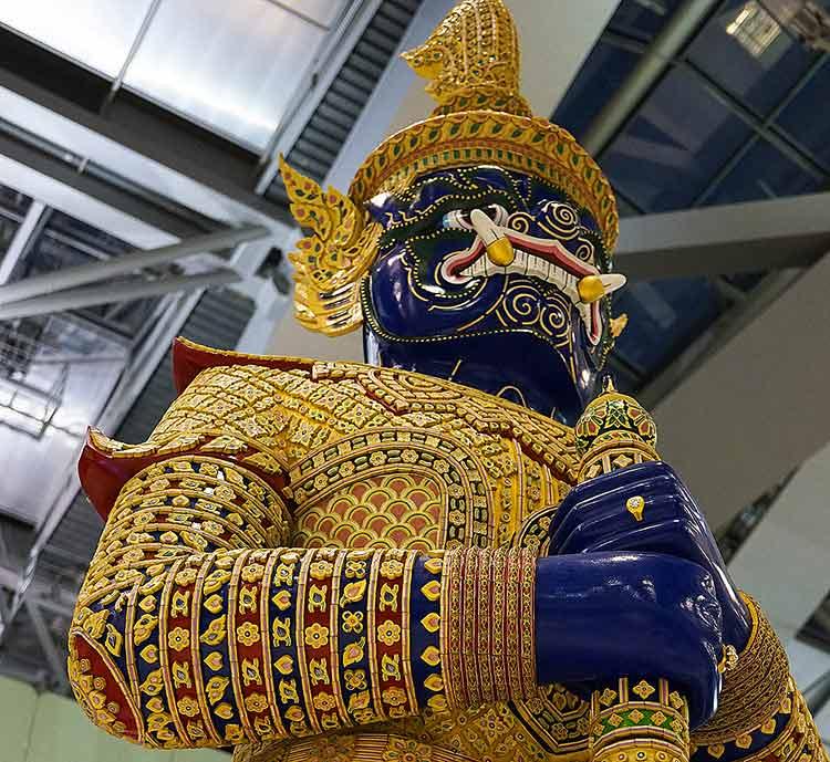 バンコク スワンナプーム空港 展示物