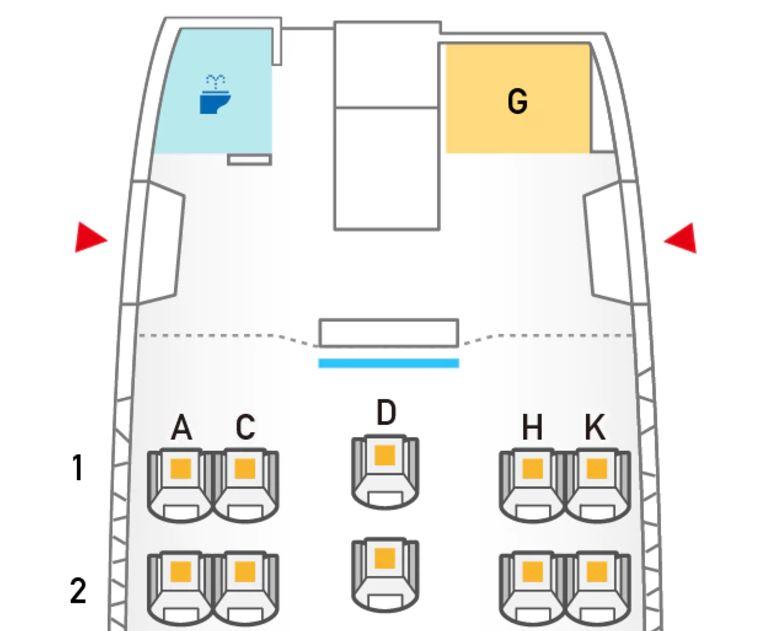 ANA 767-300 シートマップ