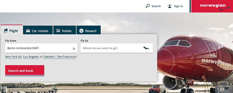 ノルウェーエアシャトルホームページ