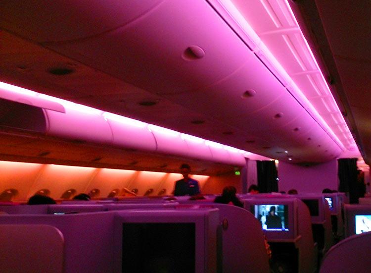 タイ国際航空 ビジネスクラス 機内