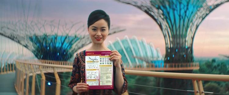 シンガポール航空セーフティビデオ1