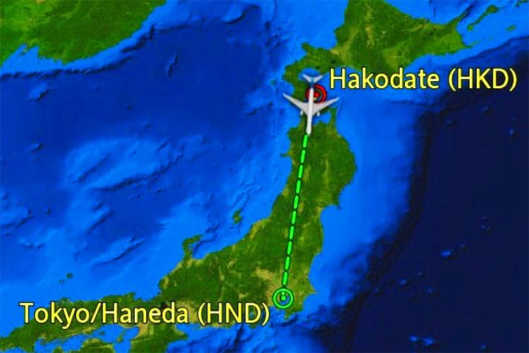 NH556便 飛行ルート