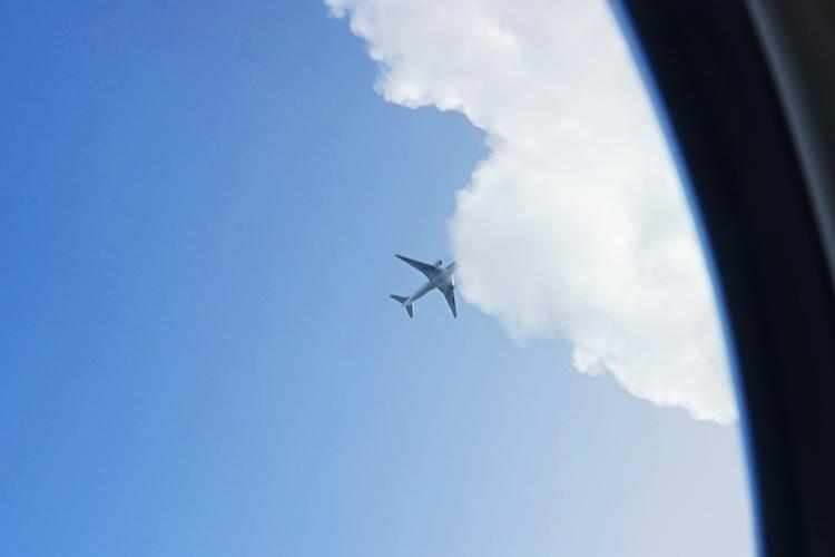 機内からの飛行機