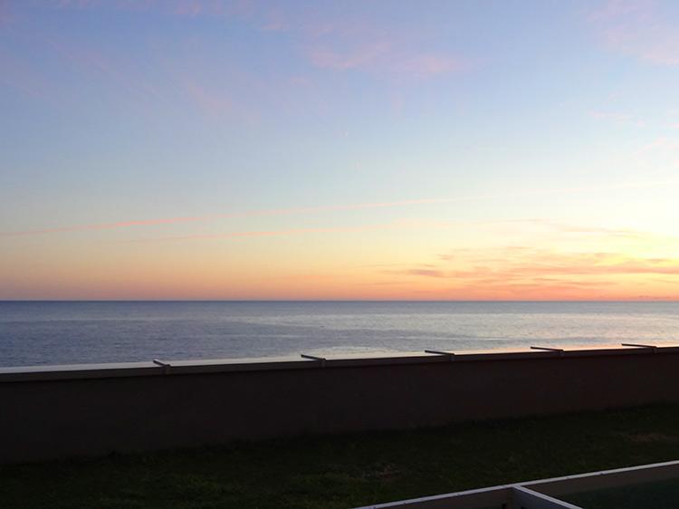 アドリア海 朝焼け