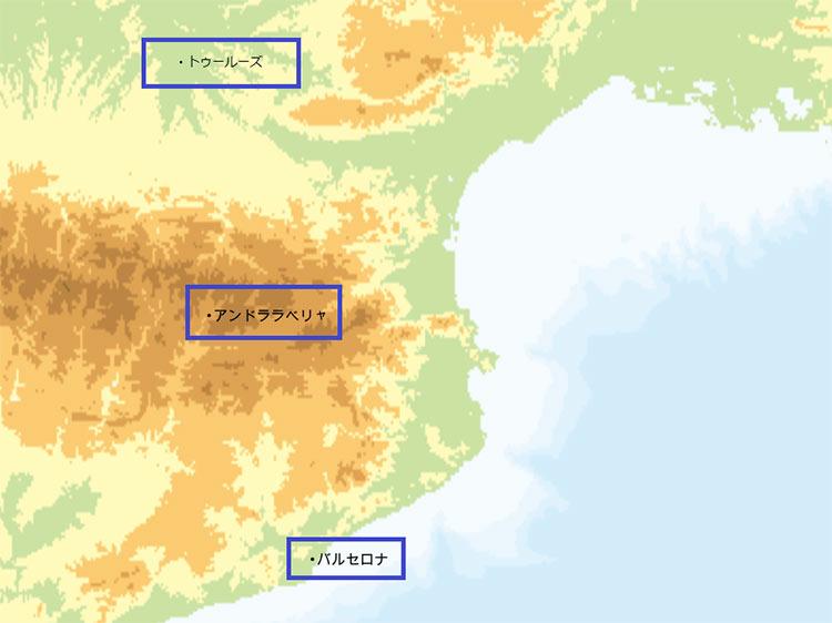 アンドラ 地図