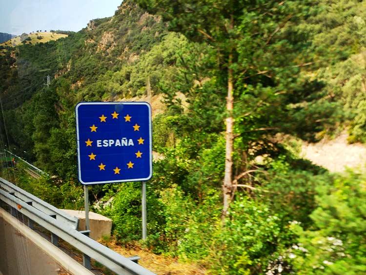 スペイン入国