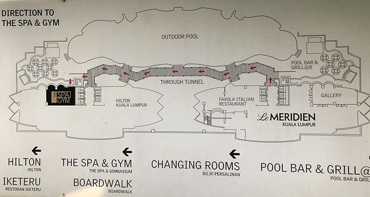 ルメリディアンクアラルンプール案内図