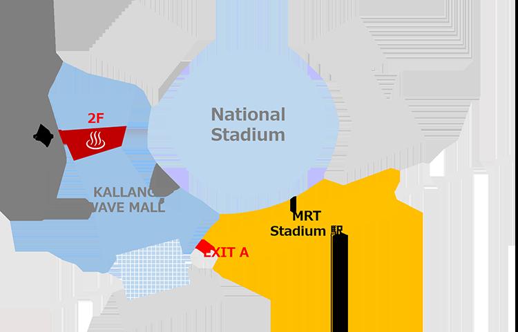 シンガポール スタジアム地図