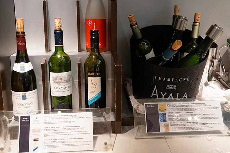 ana suite lounge ワイン
