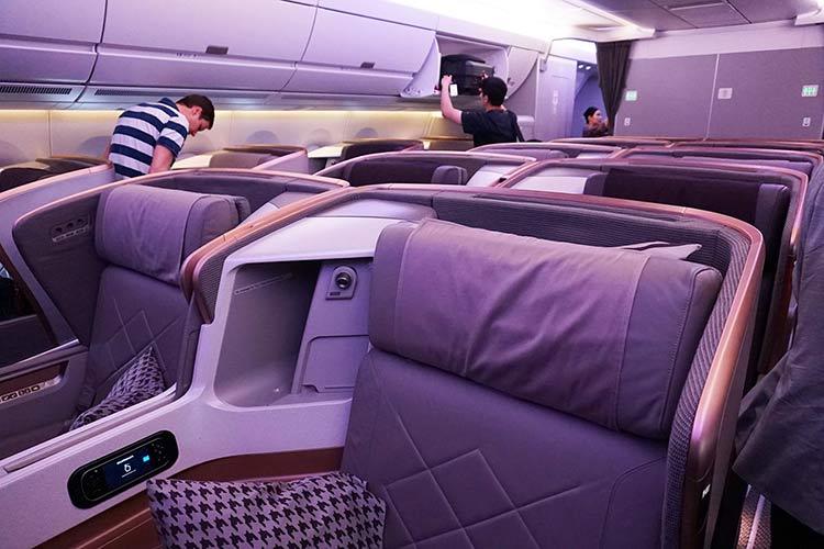 シンガポール航空A350 ビジネスクラス