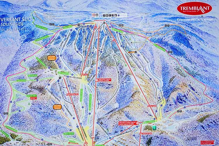 スキー場地図