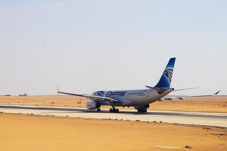 エジプト航空離陸