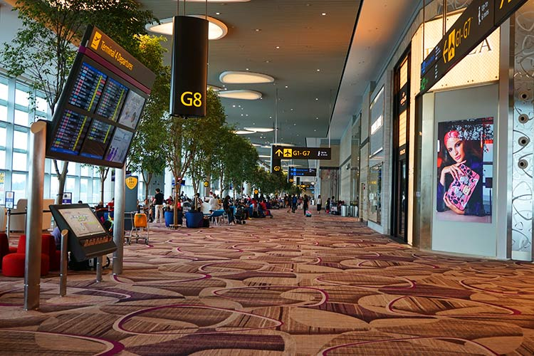 チャンギ空港ターミナル4出発フロア