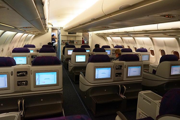 エアチャイナA330ビジネスクラス機内
