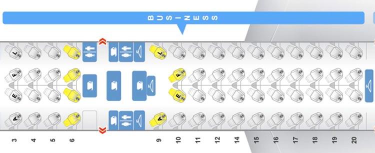 エールフランス 777W seatmap