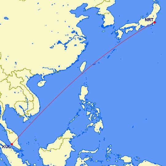 マイル修行地図