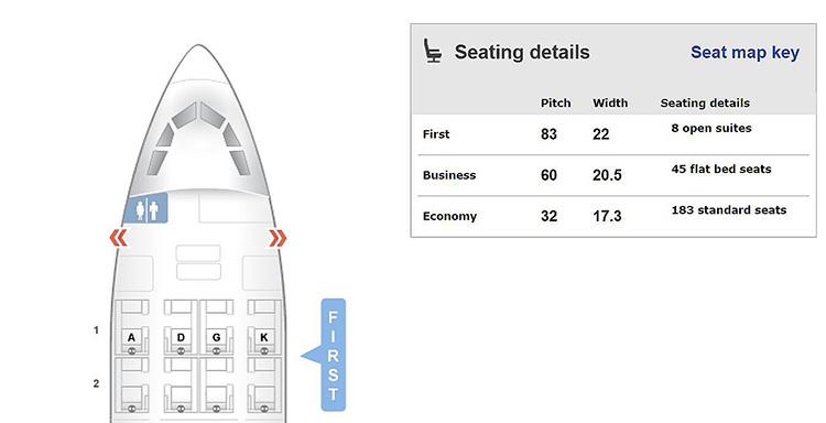 LX A330 seatmap