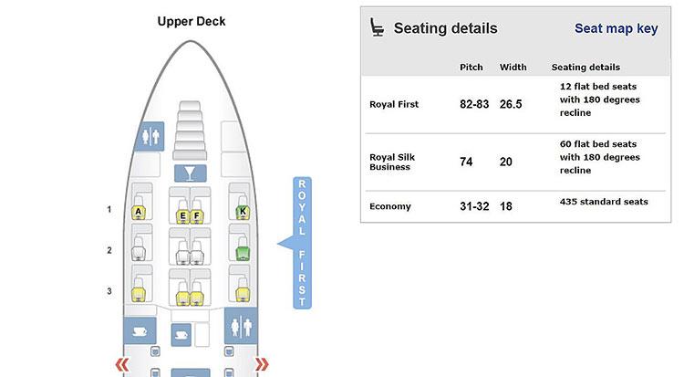 TG A380 seatmap