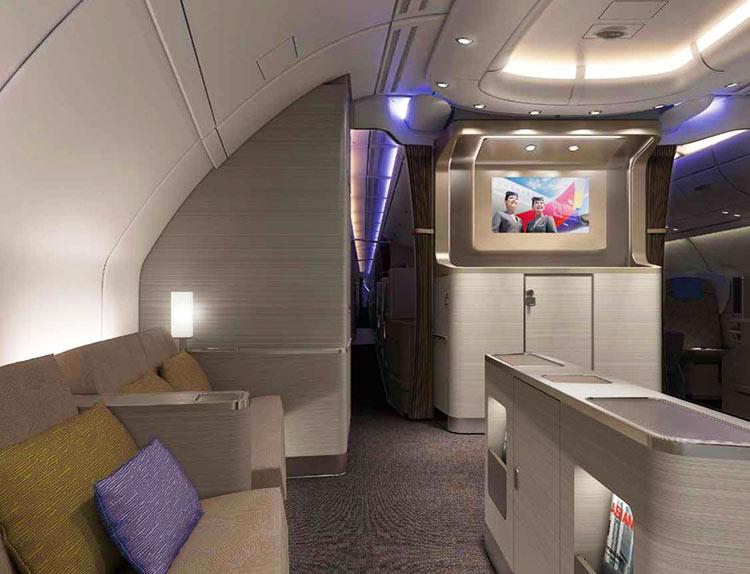 アシアナ航空A380 機内ラウンジ