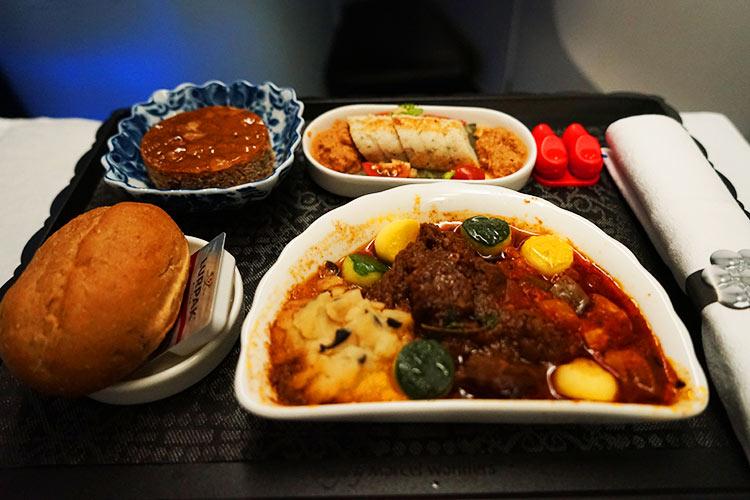 KLMビジネスクラス機内食