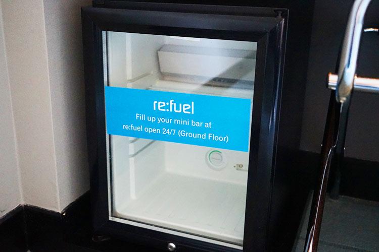 アロフト クアラルンプール セントラル 冷蔵庫