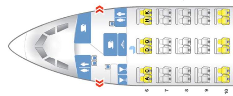 EVAAIR 333 seatmap