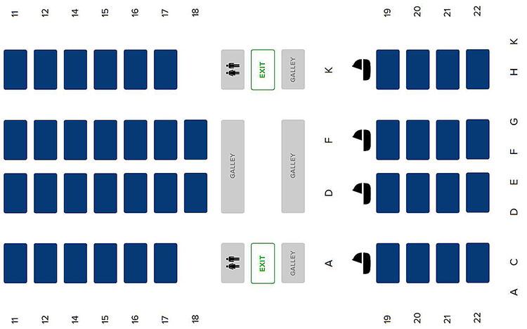A350 seatmap