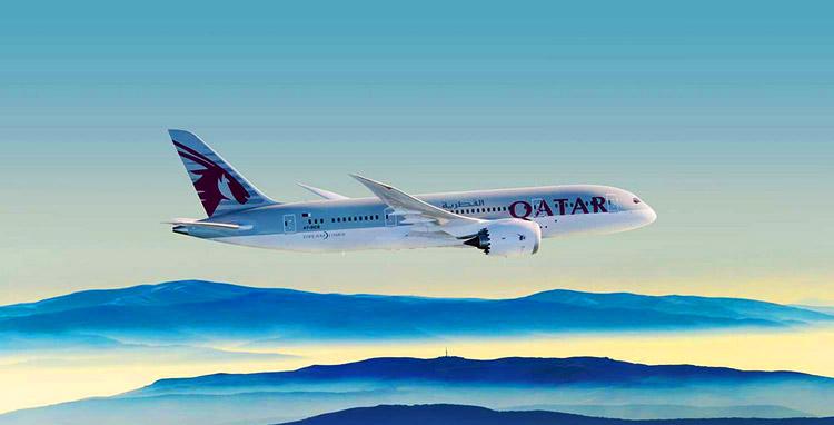 カタール航空B787