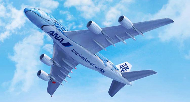 ANA A380 blue