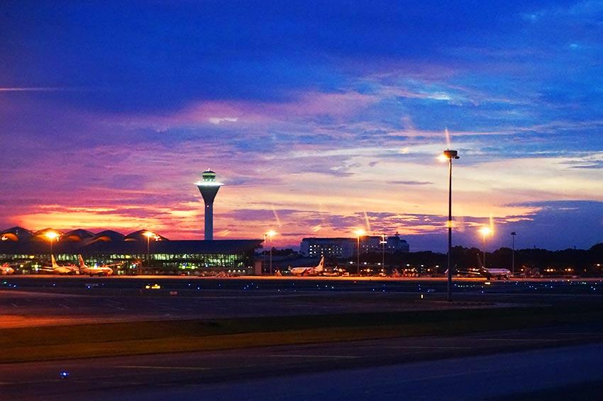 クアラルンプール空港の夜景