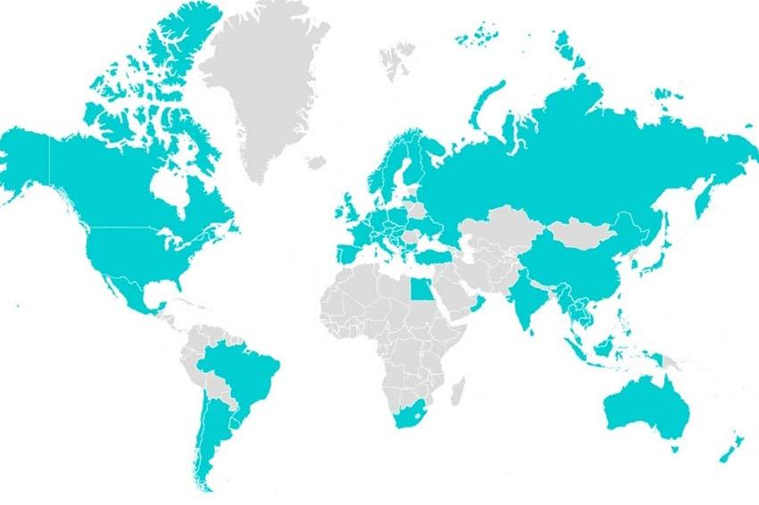 世界地図塗りつぶし