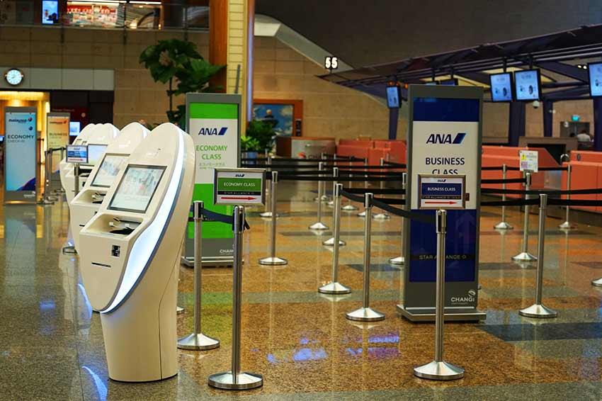 チャンギ空港チェックインカウンター