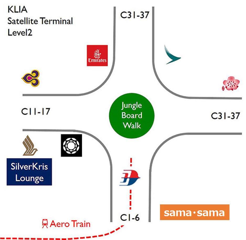サテライトターミナルマップ