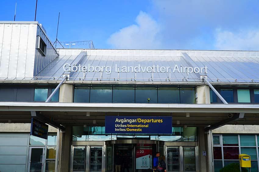ヨーテボリ空港入口