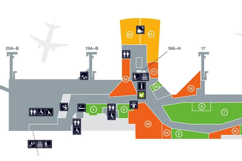 ヨーテボリ空港地図