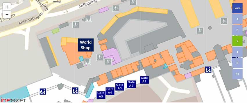 Aエリア店舗地図