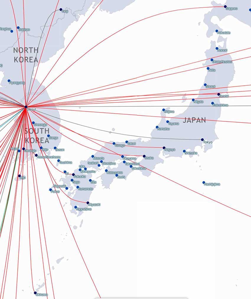 アシアナ航空日本路線