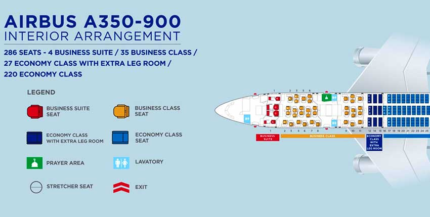 A350シートマップ