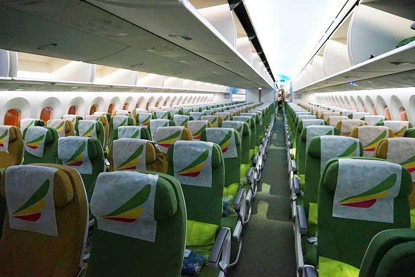エチオピア航空機内