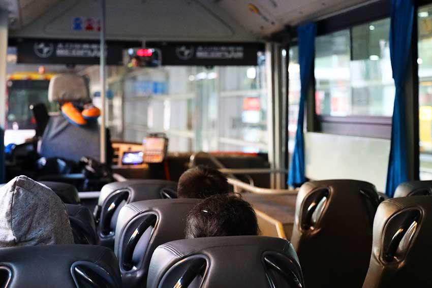 沖止めバス