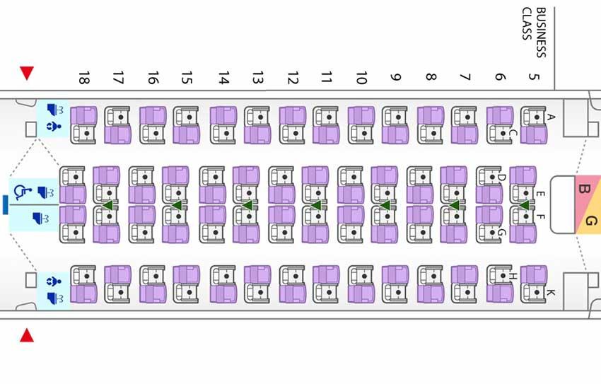 ANA A380 ビジネスクラスシートマップ