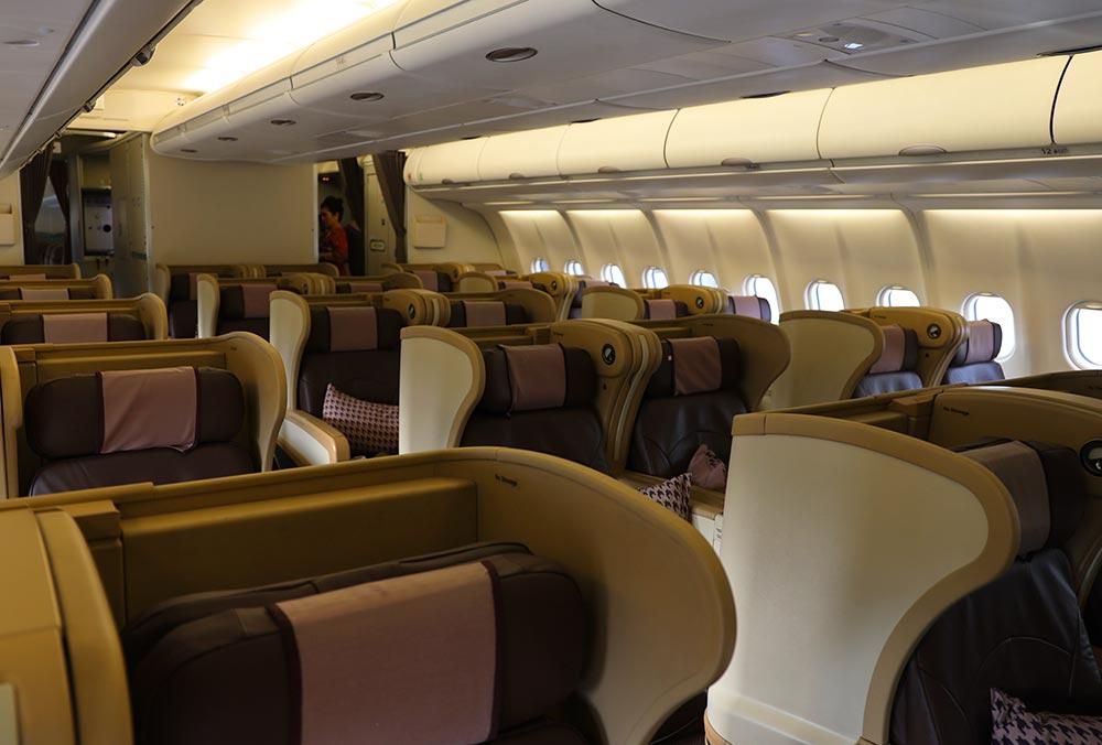 シンガポール航空 A330ビジネスクラス前方