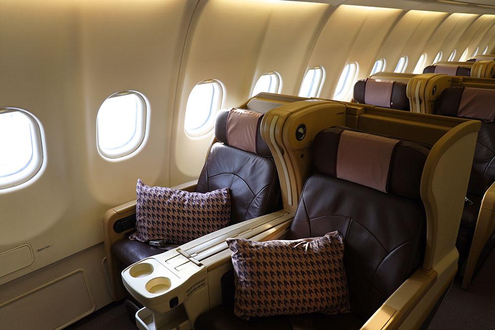 シンガポール航空 A330 ビジネスクラス バルクヘッド