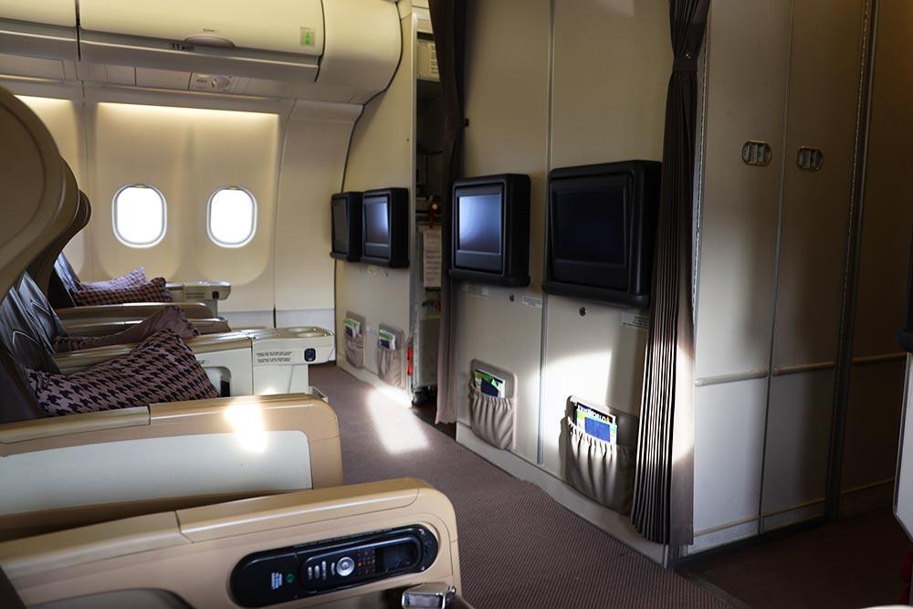 シンガポール航空 ビジネスクラス バルクヘッド