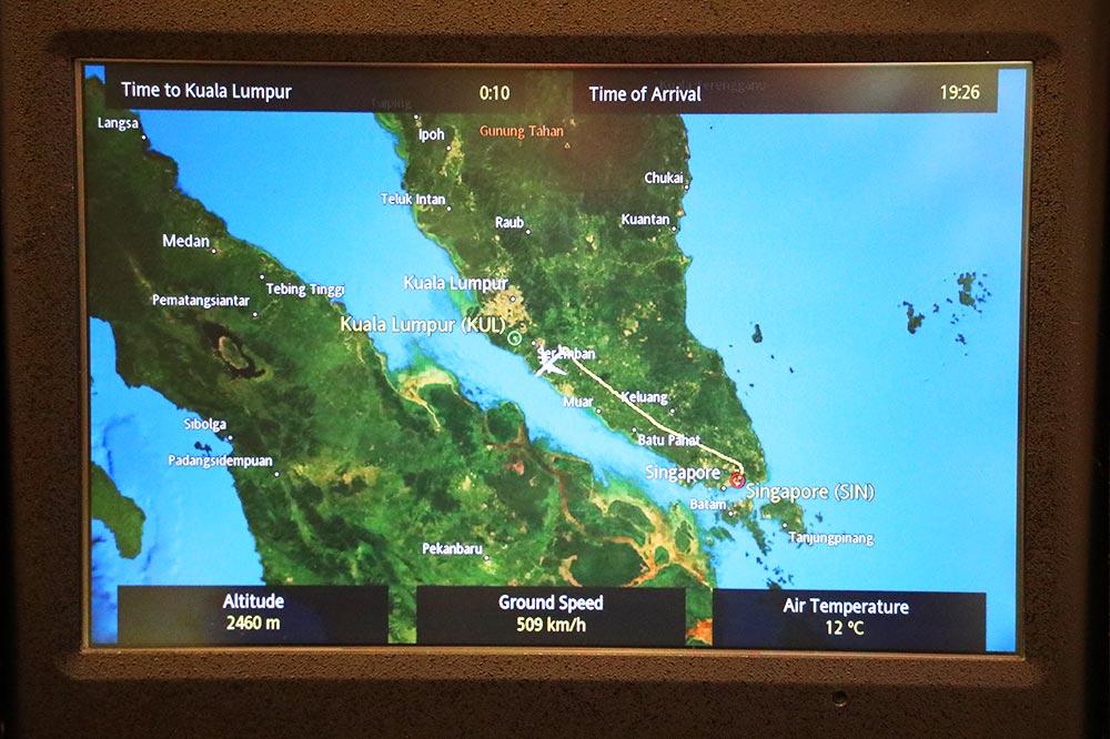 シンガポール航空 フライトマップ