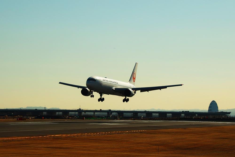 JAL羽田着陸