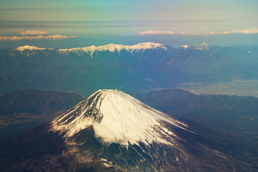 富士山とアルプス