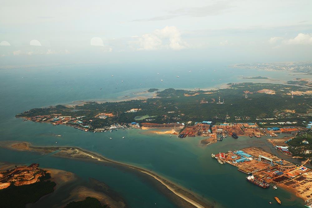 シンガポール上空