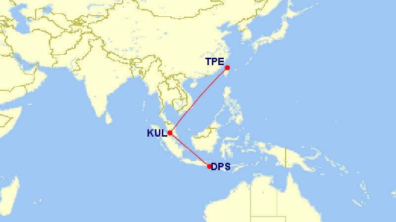 マレーシア航空ルートマップ